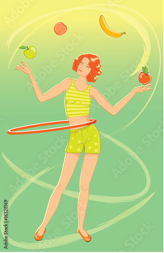 Juggler girl
