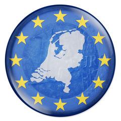 3D-Button - Eurozone - Niederlande