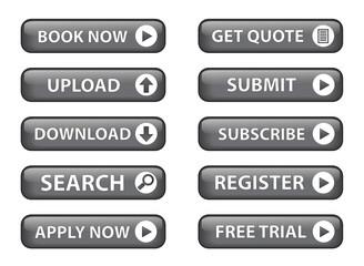 Web Buttons (Miscellaneous) (vector; black) (x10)