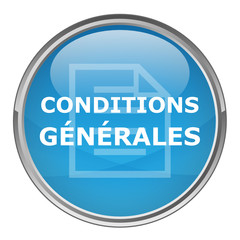 "Bouton rond ""CONDITIONS GENERALES"" (vecteur ; bleu)"