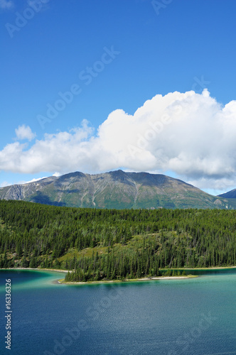 Emerald Lake, Sky, and Mountains, Yukon Territory, Canada