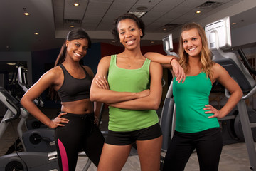 group of fitness friends