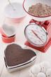 バレンタインイメージ, チョコレートケーキ作り
