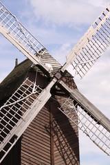 Schöne Windmühle in Nahaufnahme