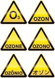 Panneaux métal de danger ozone (détouré) poster