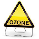 Panneau de danger ozone (ombre) poster