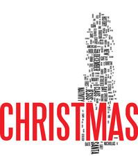 Xmass - Christmas word cloud