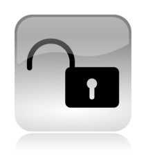 Security Unlock glossy icon