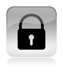 Security Lock glossy icon