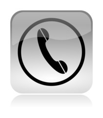 Phone Contact us glossy icon