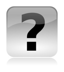 Question Info glossy icon