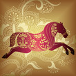 roleta: Abstract Horse with Floral