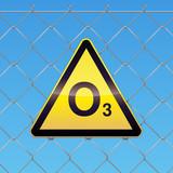 Panneau de danger ozone poster