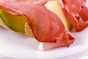 Parma schinken mit Melone