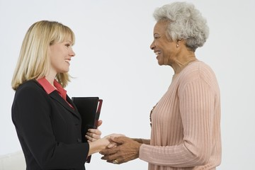 Senior Woman Meeting Financial Advisor