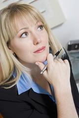 Pensive Financial Advisor