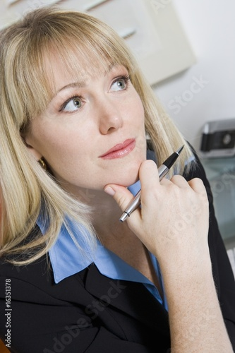 Pensive Financial Advisor