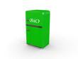 green bio retro refrigerator