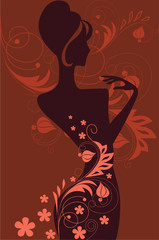 silhouette of the woman