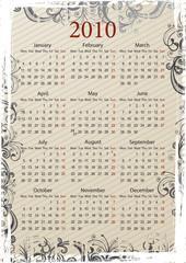 European grungy calendar