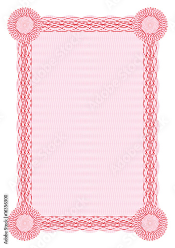 Vector guilloche red border for diploma