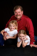 Granpa with grand daughters