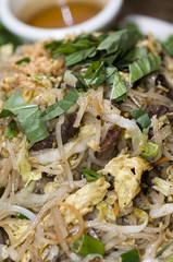vietnamese food  Bun Xao  rice noodles with shredded vegetables