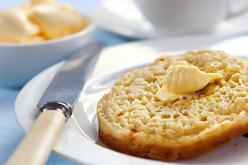 Hot Buttered Crumpets