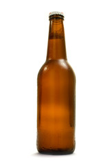 brown bottle with beer