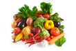 Variety of fresh fruit and vegetable