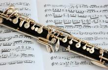 Oboe Instrument and Music Manuscript