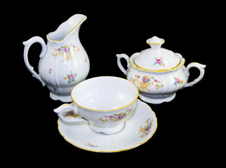 Tea porcelain set