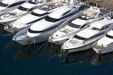 Fototapety Yachten im Hafen Port de Fontvieille von Monaco