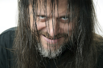 Diabolischer Blick des Psychopathen