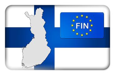 3D-Button Europäische Union - Finnland