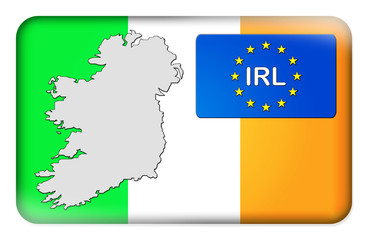 3D-Button Europäische Union - Irland