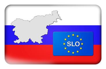 3D-Button Europäische Union - Slowenien