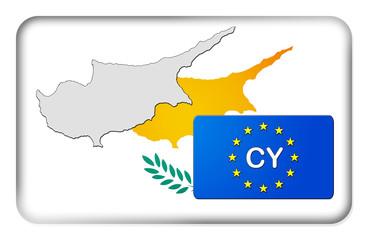 3D-Button Europäische Union - Zypern