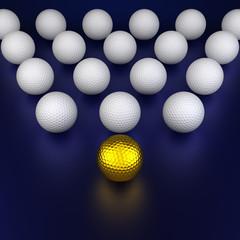 Golf balls formation