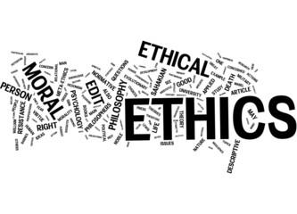 Ethics tags cloud