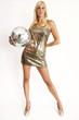 disco girl gold
