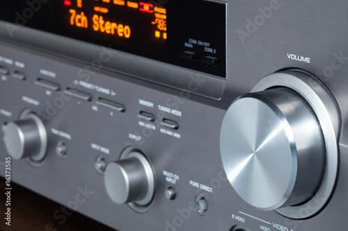 Leinwandbild Motiv AV receiver