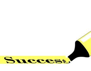 evidenziatore su scritta successo