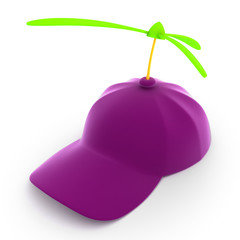 Purple toy cap