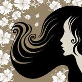Fototapeta czarny - brunetka - Kobieta