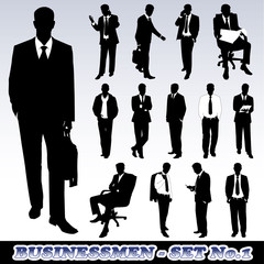 Highly Detailed Silhouette of Businessmen
