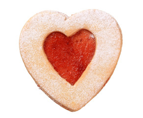 Heart shaped Linzer cookie