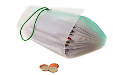 Unpaid bills and a Few Coins