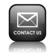 """Square vector """"CONTACT US"""" button with reflection (black)"""