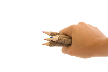 Wood Pencils in Hand